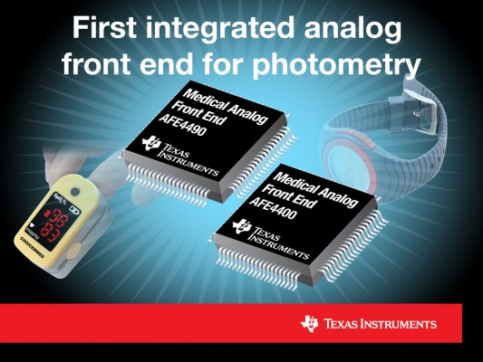First integrated analog front end for photometry